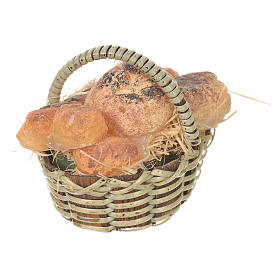 Accessory for nativities of 20-24cm, basket with bread in wax s4
