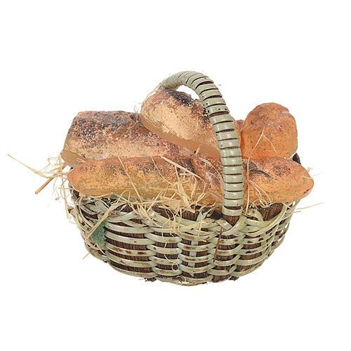 Cestino pane in cera per figure presepe 20-24 cm 1