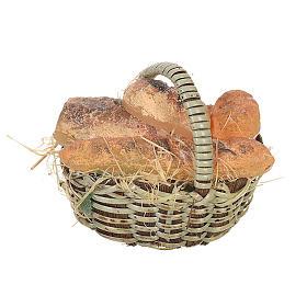 Comida em Miniatura para Presépio: Cesta pão em cera para peças presépio 20-24 cm