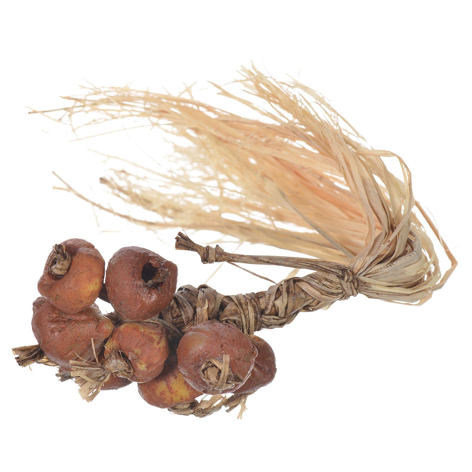 Treccia di cipolle per figure presepe 20-24 cm 4