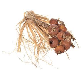 Comida em Miniatura para Presépio: Réstia de cebola em cera para peças presépio 20-24 cm