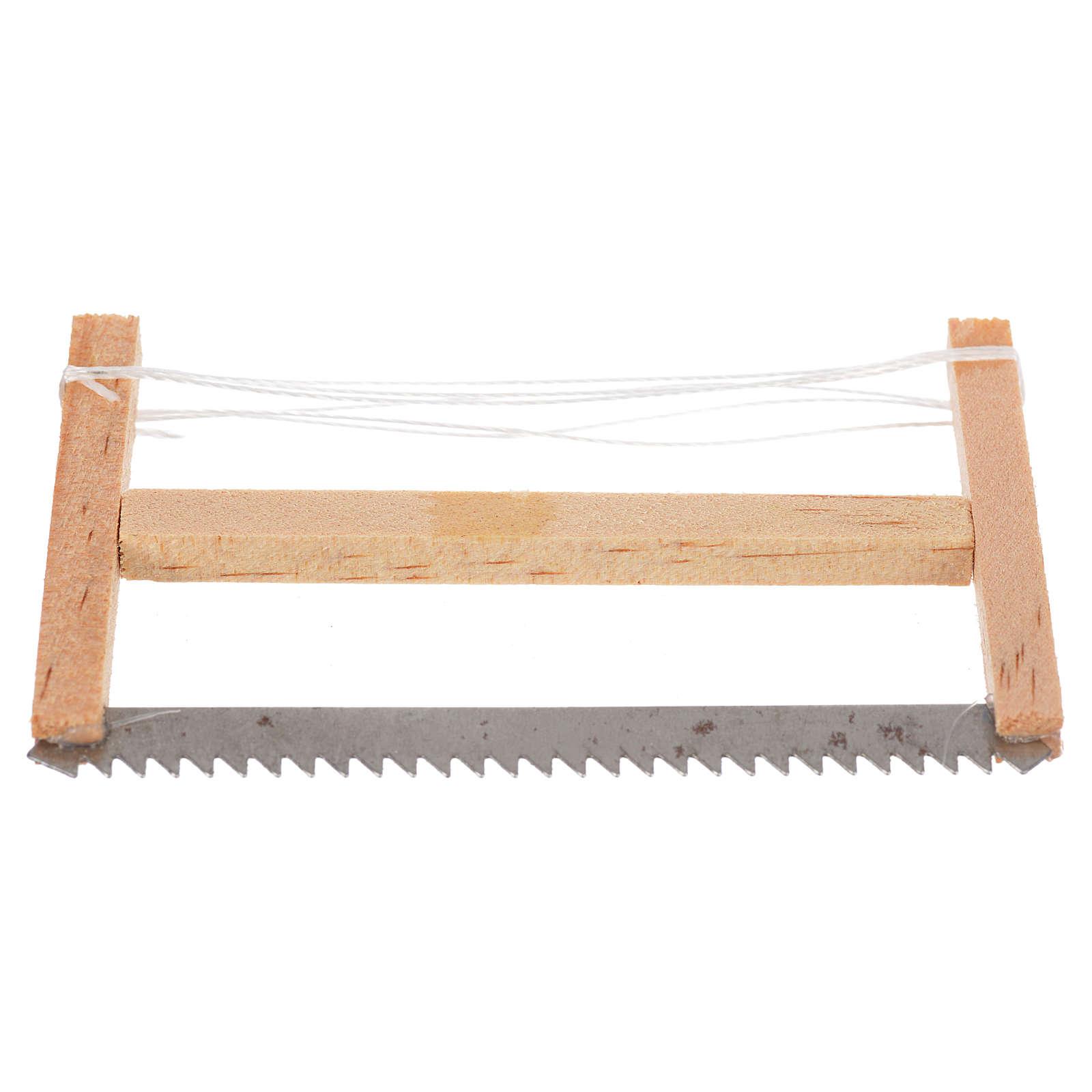 Woodcutter hacksaw, nativity accessory 6.5x4cm 4