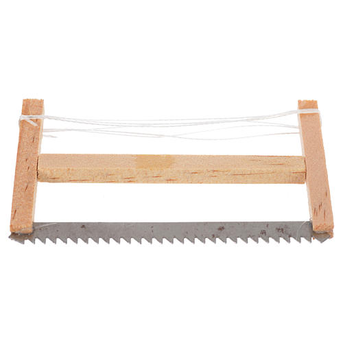 Woodcutter hacksaw, nativity accessory 6.5x4cm 1