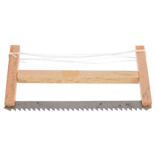 Scie de bucheron pour crèche 6,5x4 cm 1