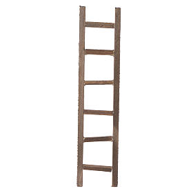 Miniature tools: Wooden ladder, nativity accessory 22x4.5cm
