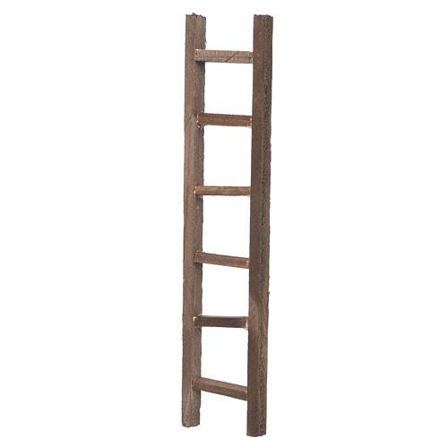 Wooden ladder, nativity accessory 22x4.5cm 2