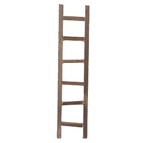 Escada de mão madeira presépio 22x4,5 cm s1