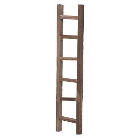 Escada de mão madeira presépio 22x4,5 cm s2