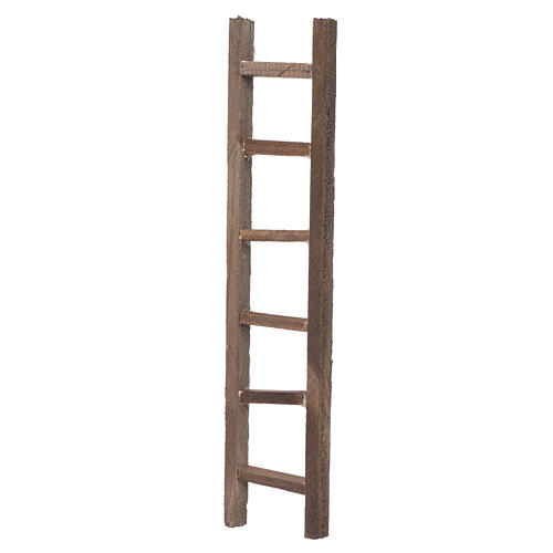 Wooden ladder, nativity accessory 22x4.5cm 2