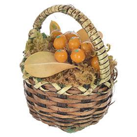 Cestino con frutta arancione presepe per figure 20-24 cm s2
