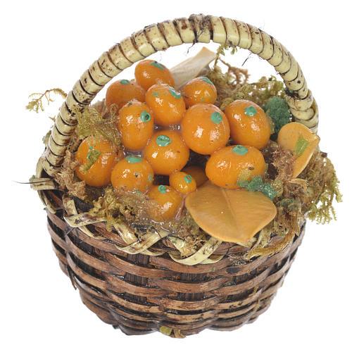 Cestino con frutta arancione presepe per figure 20-24 cm 1