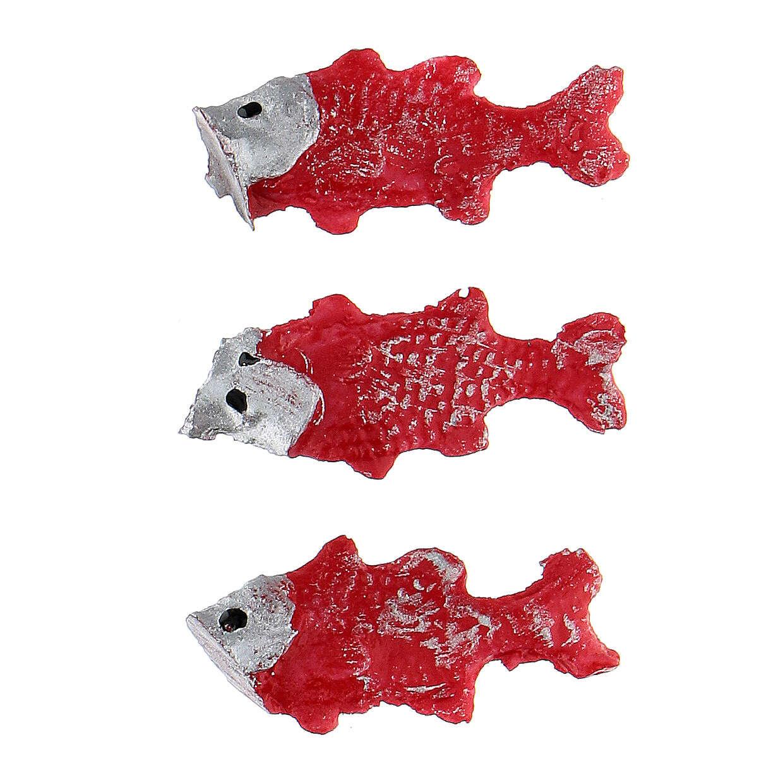 Pesci rossi 3 pz presepe 3