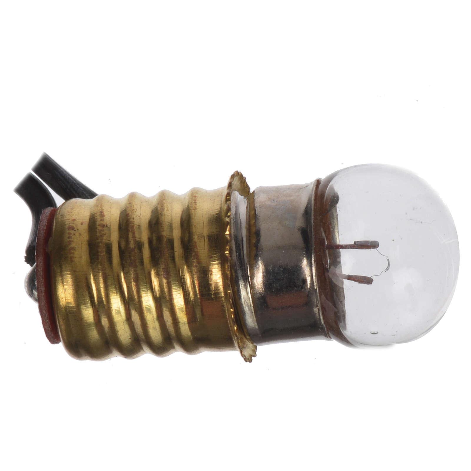 Bombilla E10 con luz 3,5V hilo 150 cm 4
