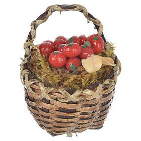 Cestino con frutta rossa presepe per figure 20-24 cm s1