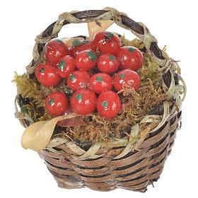 Cestino con frutta rossa presepe per figure 20-24 cm s2