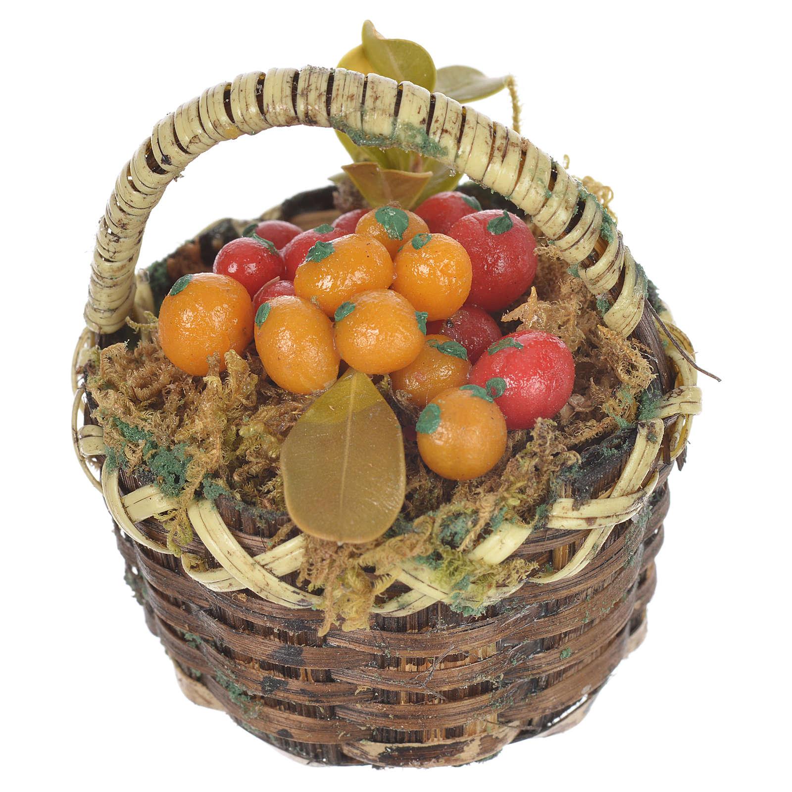 Cestino con frutta mista presepe per figure 20-24 cm 4