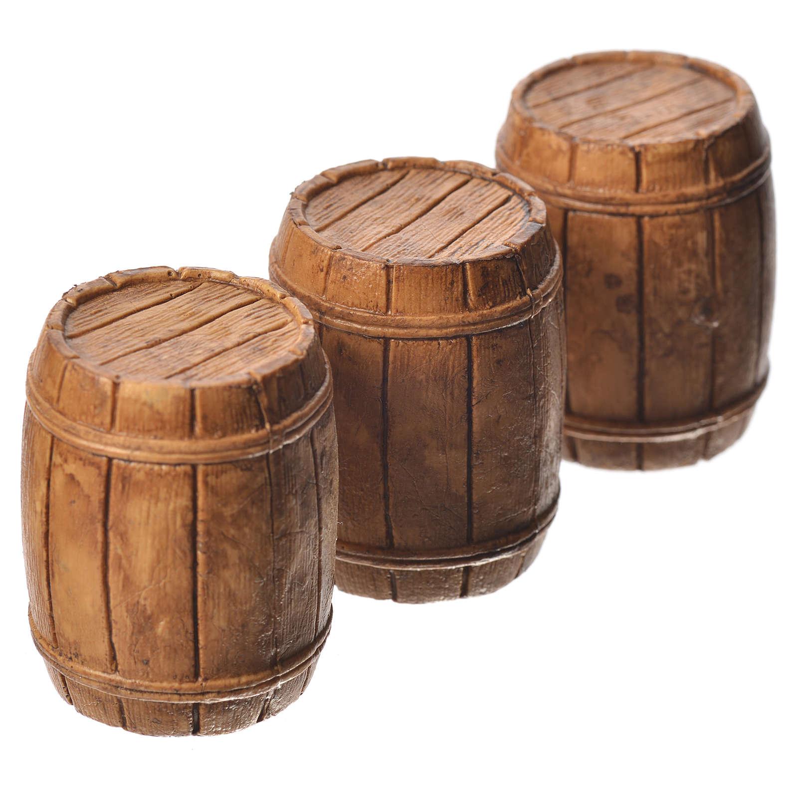 Barris conjunto 3 peças para presépio Moranduzzo com figuras de 10 cm  de altura média 4