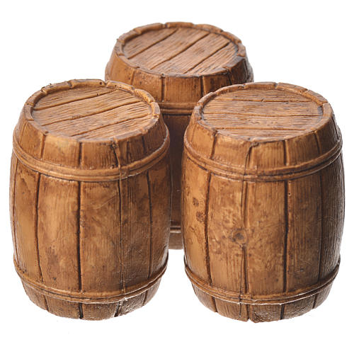 Barrels 3 pieces, Moranduzzo Nativity scene 10cm 1