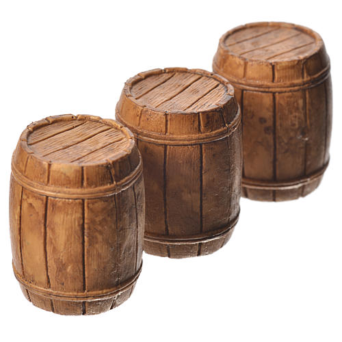 Barrels 3 pieces, Moranduzzo Nativity scene 10cm 2