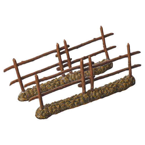 Nativity setting, 2 fences 21x7cm Moranduzzo 2