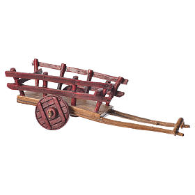 Cart for the Moranduzzo nativity, 6cm made in PVC s1