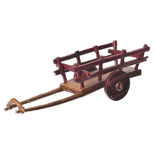 Cart for the Moranduzzo nativity, 6cm made in PVC 2