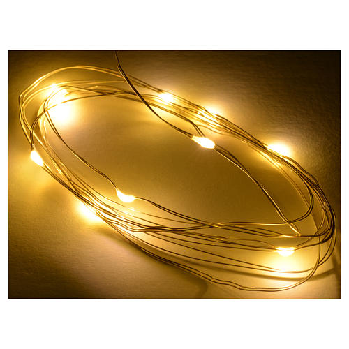 Nano led warm white 10 leds 2m for nativity scene 2