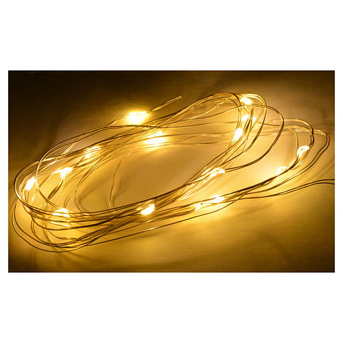 Nano led warm white 15 leds 3m for nativity scene 2