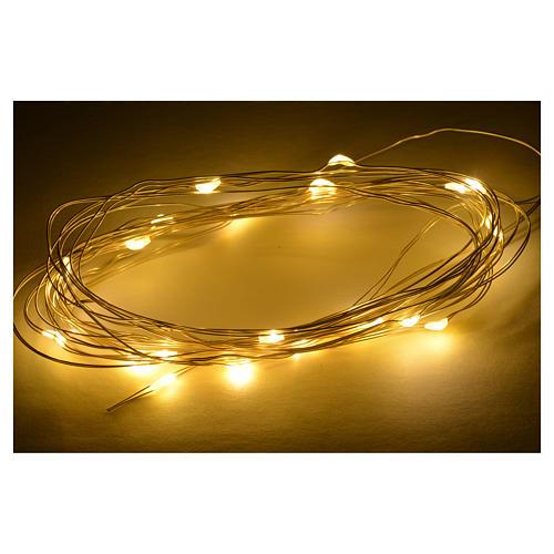 20 Luces LED blanco cálido 4 m belén 2