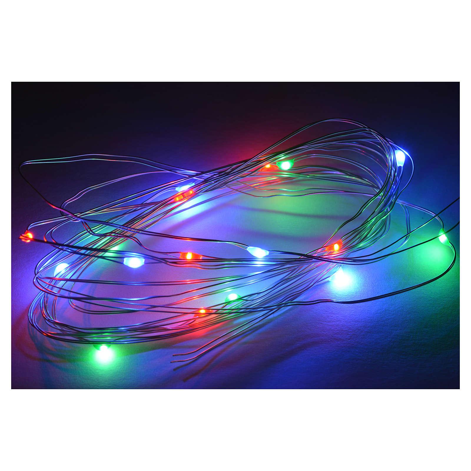 15 Mini Luces LED multicolor 3 m belén 4