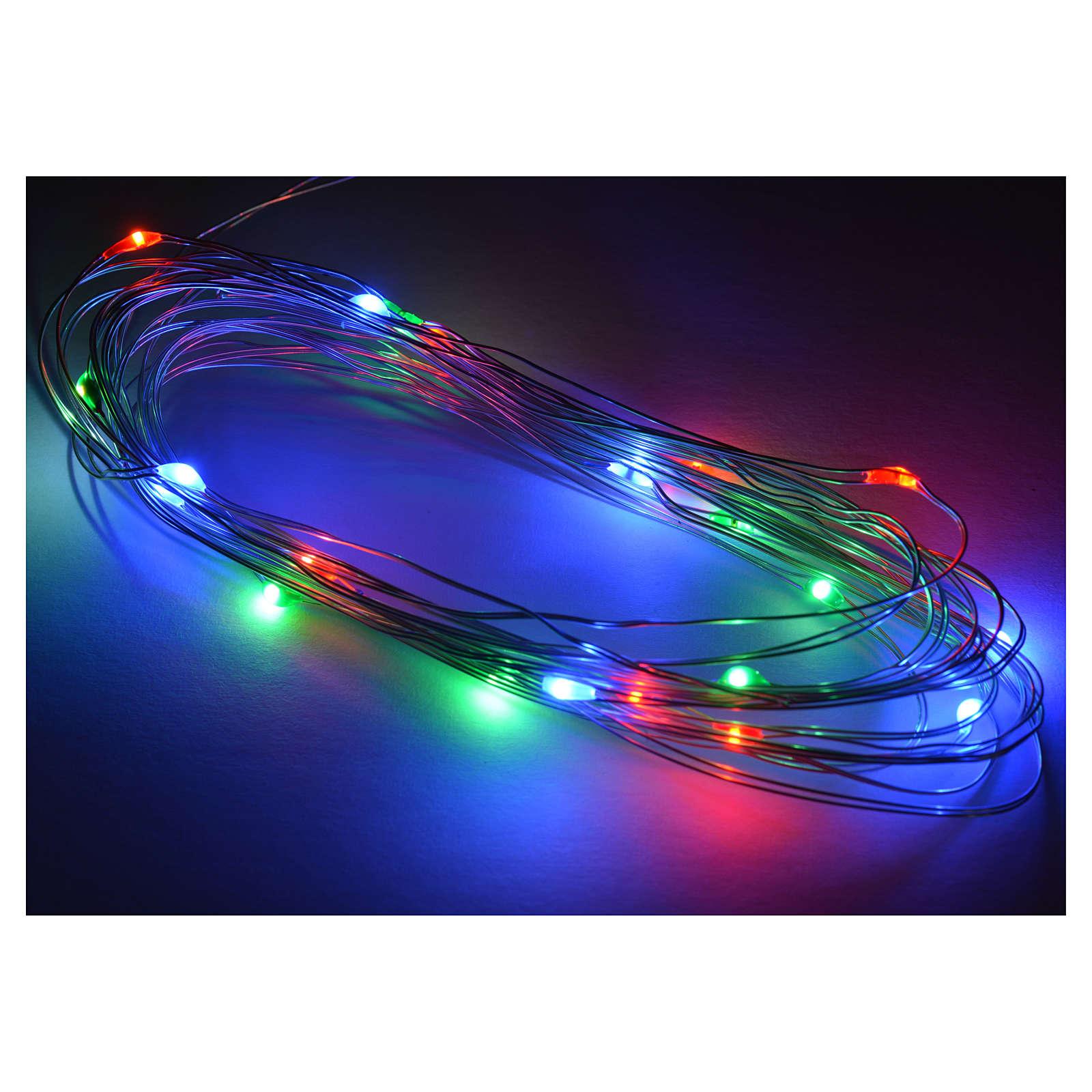 Nano led multicolor 20 led 4 m presepe 4