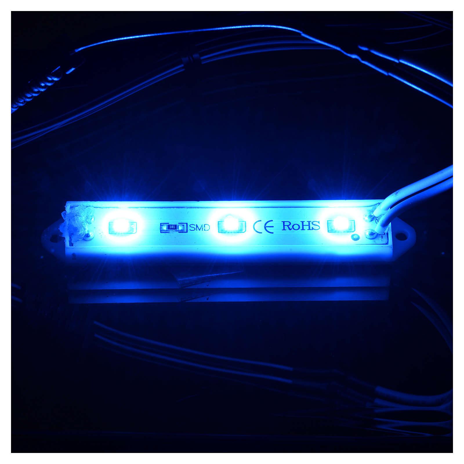 Luces LED subacuáticas 9 x 1,5 cm enchufe 2,5 mm azul 4