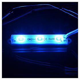 Luces LED subacuáticas 9 x 1,5 cm enchufe 2,5 mm azul s2