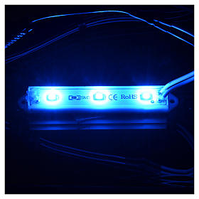 Underwater leds 9x1,5 cm 2,5 mm blue for nativity scene s2
