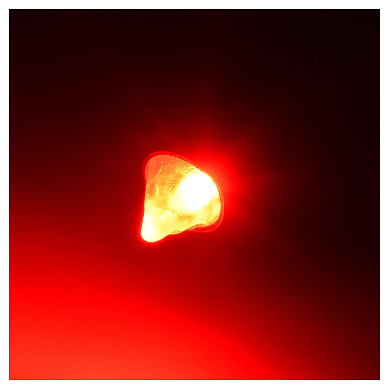 Led tocha luz vermelha diâmetro 5 mm presépio 4