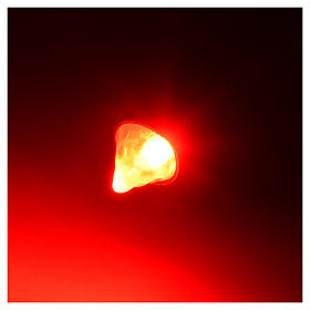Led tocha luz vermelha diâmetro 5 mm presépio s2