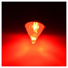 Luz LED efecto antorcha color rojo diám 8 mm belén s2