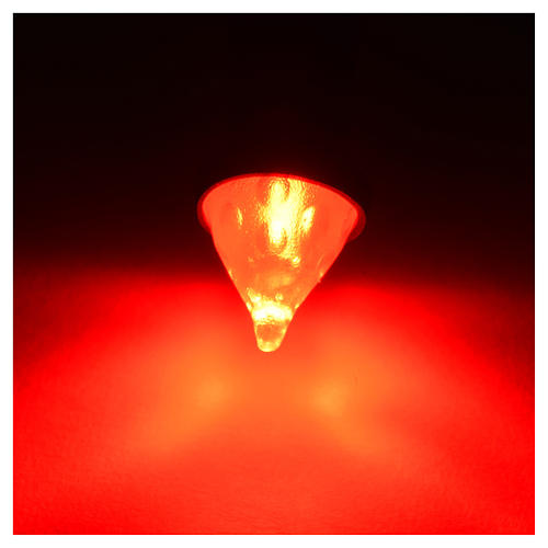 Led torche lumière rouge diam. 8mm crèche 2