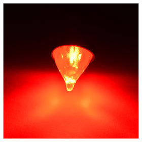 Led torcia luce rossa diam. 8 mm presepe s2
