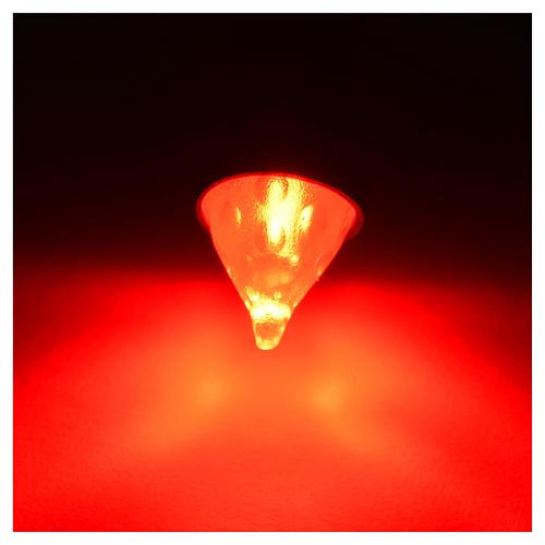 Led torcia luce rossa diam. 8 mm presepe 2