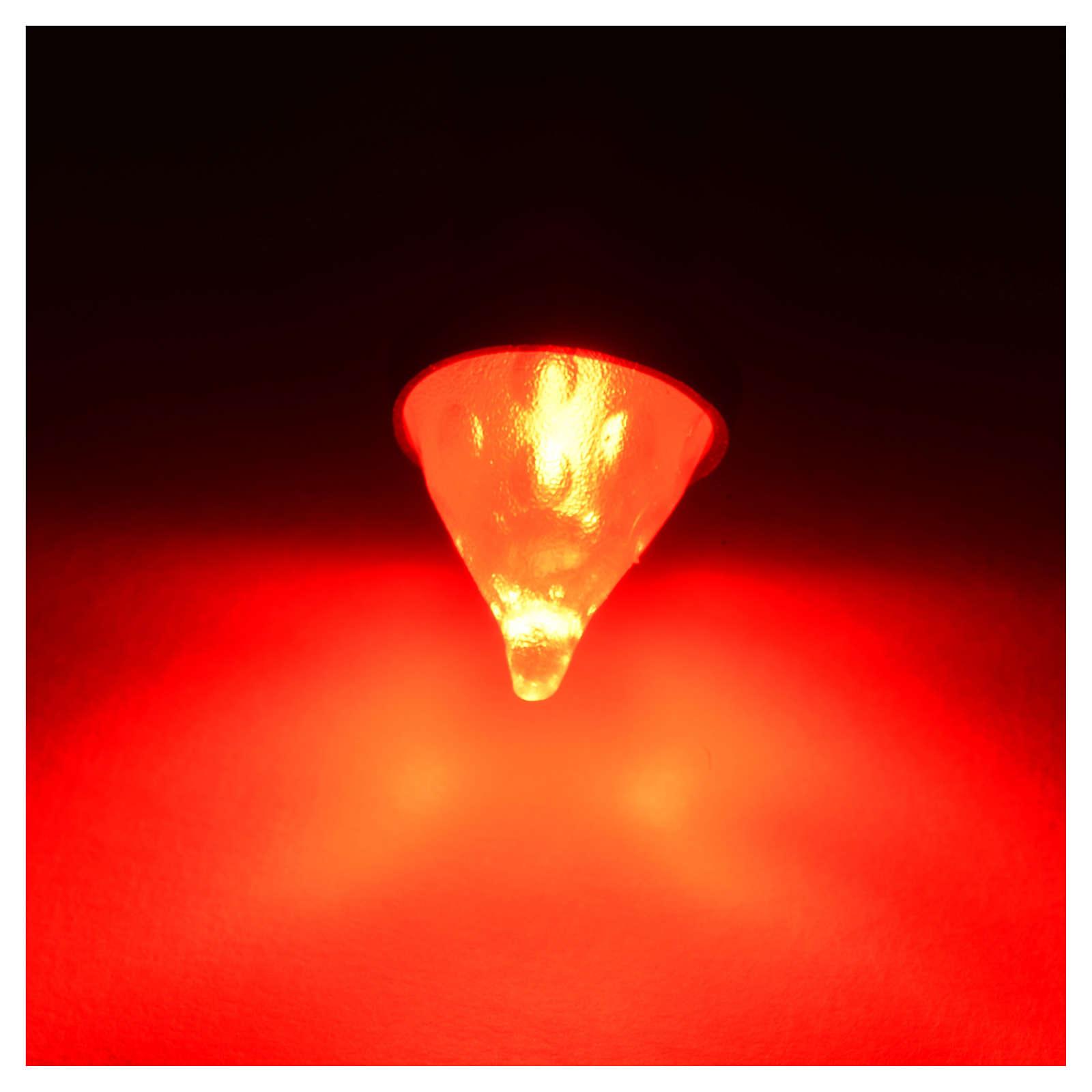 Led flashlight 8 mm diameter with red light for nativity scene 4