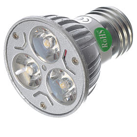 Nativity lights and lamps: LED spot light 30 degrees 1W, cold light for nativities