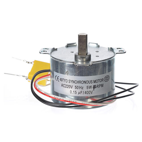 Motor reductor for nativities MV 4spin/minute 2