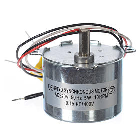 Motor reductor for nativities MV 10spin/minute s2