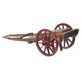 Cart for the Moranduzzo nativity, 10cm made in PVC s2