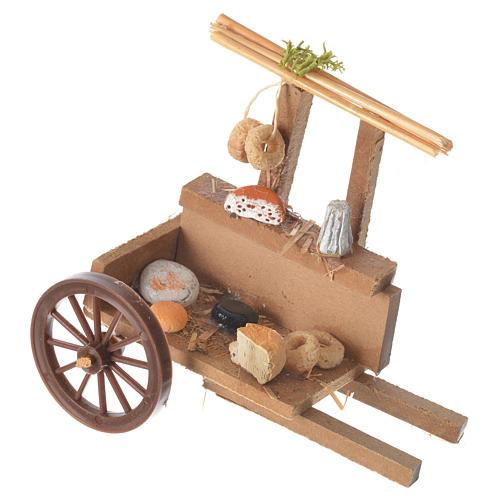 Wózek załadowany serem wosk szopka 10x12x8 cm 1