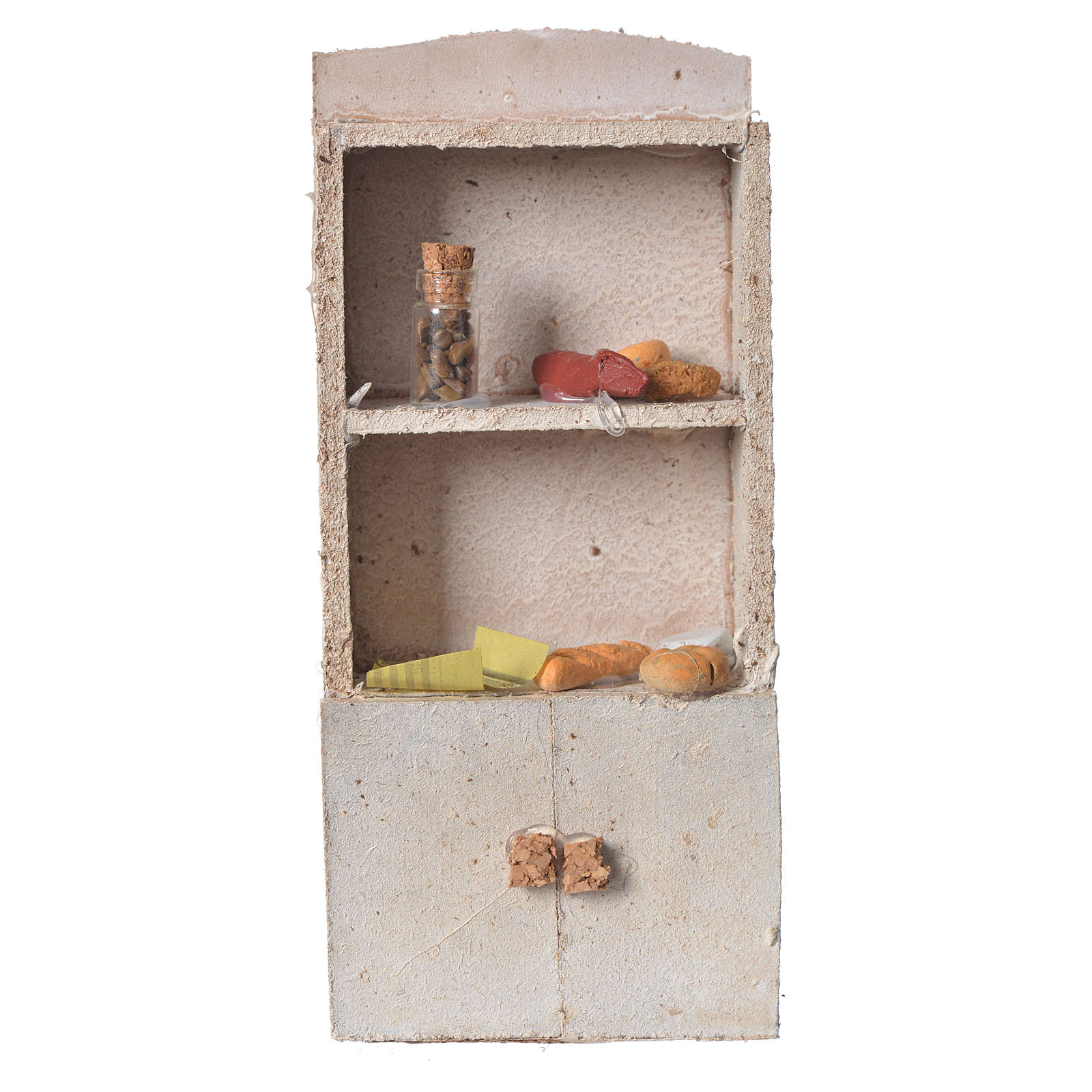 Cupboard for nativity with bread and spices 16x9x4cm 4