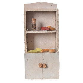 Cupboard for nativity with bread and spices 16x9x4cm s1