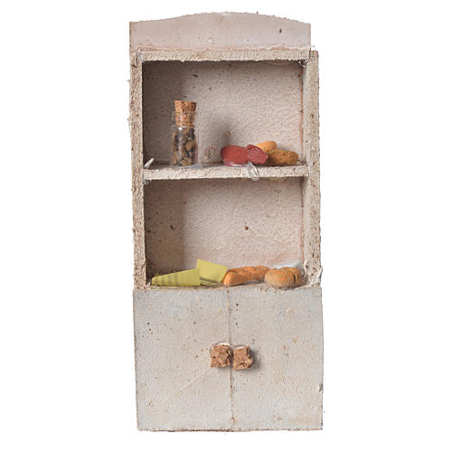Cupboard for nativity with bread and spices 16x9x4cm 1