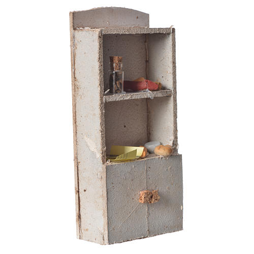 Cupboard for nativity with bread and spices 16x9x4cm 2